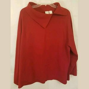 Emma James Woman's Sweater Red Pullover Sweater Pl